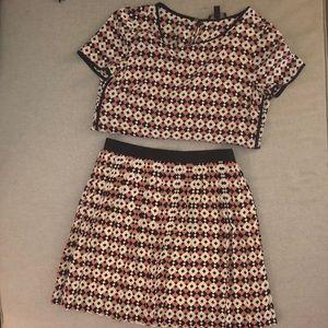 Cute silk skirt set